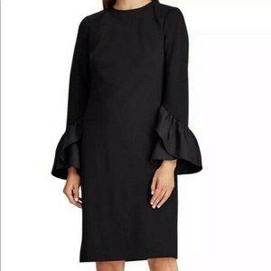 Lauren Ralph Lauren Dress Ruffle Cuff Bell Sleeve